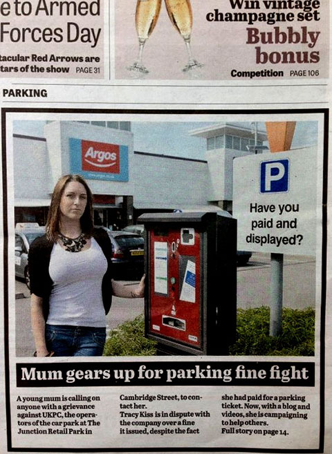 My Car Park Woe Makes Front Page News