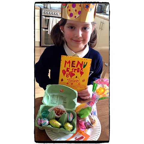 Millie Made A Lovely Easter Feast For Us All