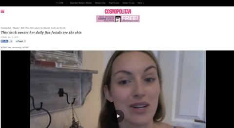 Tracy Kiss In Cosmopolitan