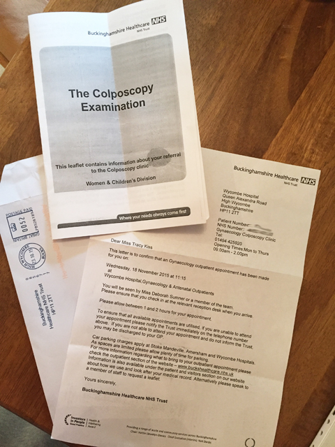 My Colposcopy Examination Appointment Has Arrived From The Hospital